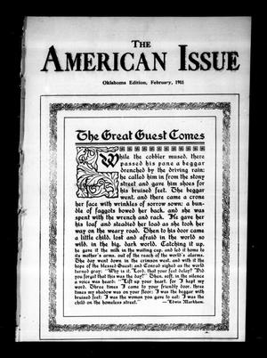 Primary view of object titled 'The American Issue (Oklahoma City, Okla.), Vol. 7, No. 2, Ed. 1 Wednesday, February 1, 1911'.