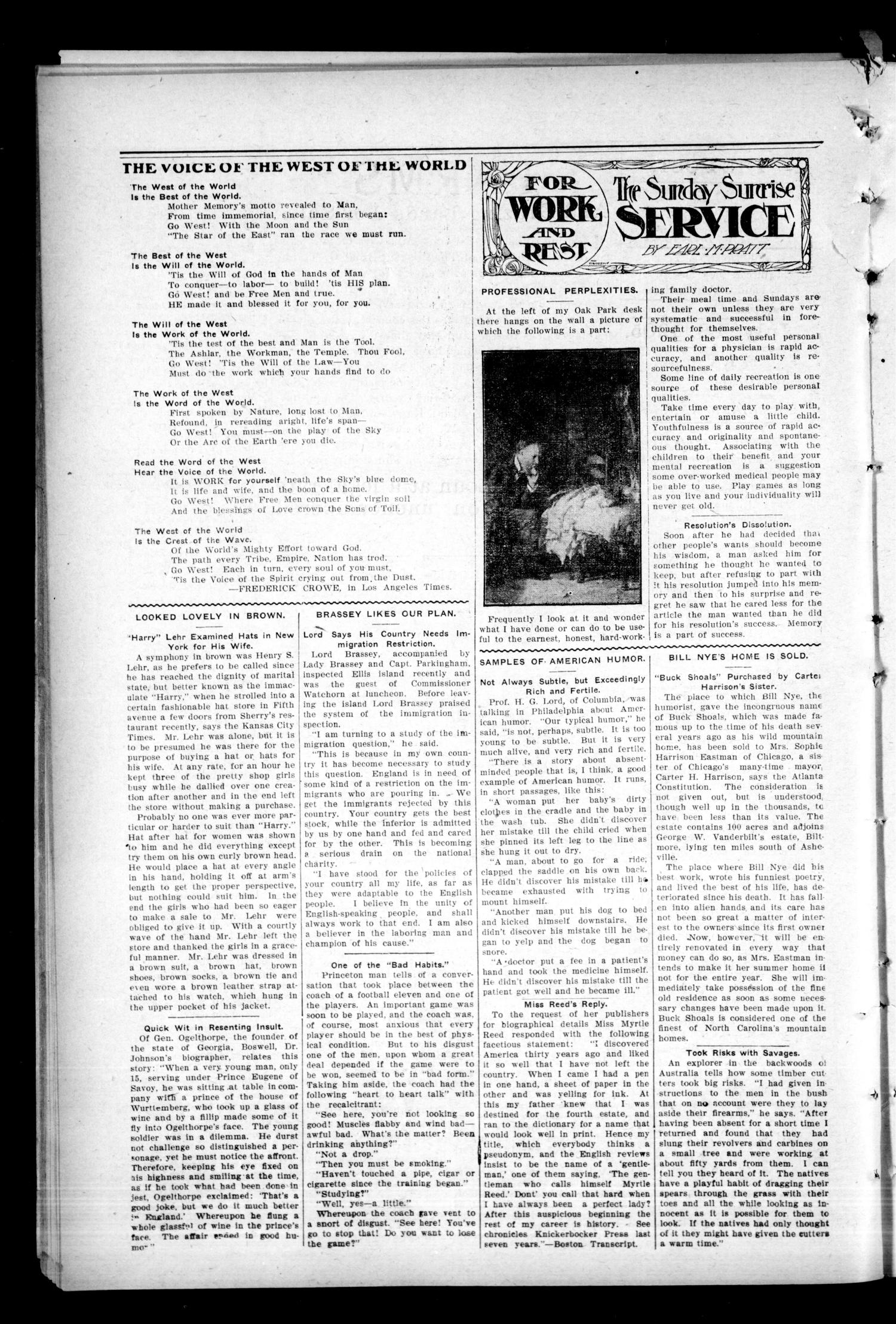 The Post. (Brule, Okla. Terr.), Vol. 1, No. 8, Ed. 1 Friday, July 28, 1905                                                                                                      [Sequence #]: 4 of 8