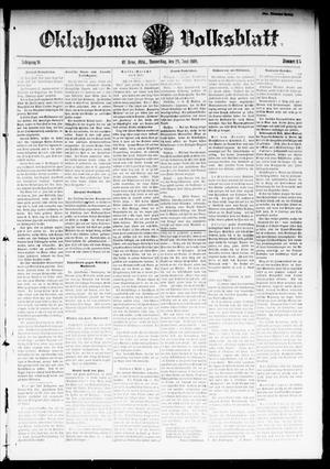Primary view of object titled 'Oklahoma Volksblatt. (El Reno, Okla.), Vol. 16, No. 15, Ed. 1 Thursday, June 24, 1909'.