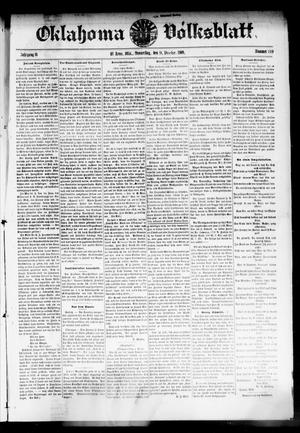 Primary view of object titled 'Oklahoma Volksblatt. (El Reno, Okla.), Vol. 16, No. 39, Ed. 1 Thursday, December 9, 1909'.