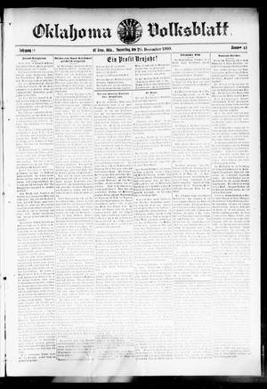 Primary view of object titled 'Oklahoma Volksblatt. (El Reno, Okla.), Vol. 17, No. 41, Ed. 1 Thursday, December 29, 1910'.
