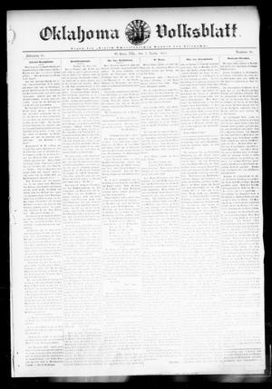 Primary view of object titled 'Oklahoma Volksblatt. (El Reno, Okla.), Vol. 18, No. 38, Ed. 1 Thursday, December 7, 1911'.