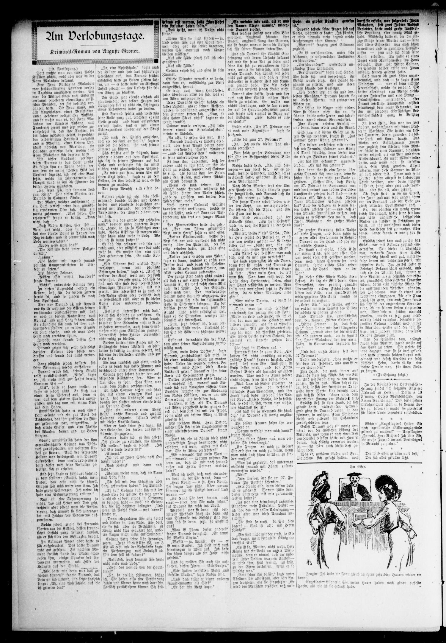 Oklahoma Volksblatt. (Oklahoma City, Okla.), Vol. 14, No. 13, Ed. 1 Friday, June 14, 1907                                                                                                      [Sequence #]: 2 of 8