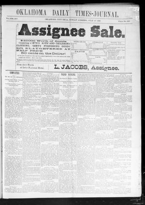 Primary view of Oklahoma Daily Times-Journal (Oklahoma City, Okla.), Vol. 2, No. 250, Ed. 1 Sunday, July 19, 1891