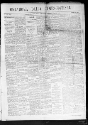 Primary view of object titled 'Oklahoma Daily Times-Journal (Oklahoma City, Okla.), Vol. 2, No. 255, Ed. 1 Saturday, July 25, 1891'.