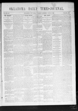 Primary view of object titled 'Oklahoma Daily Times-Journal (Oklahoma City, Okla.), Vol. 2, No. 257, Ed. 1 Tuesday, July 28, 1891'.