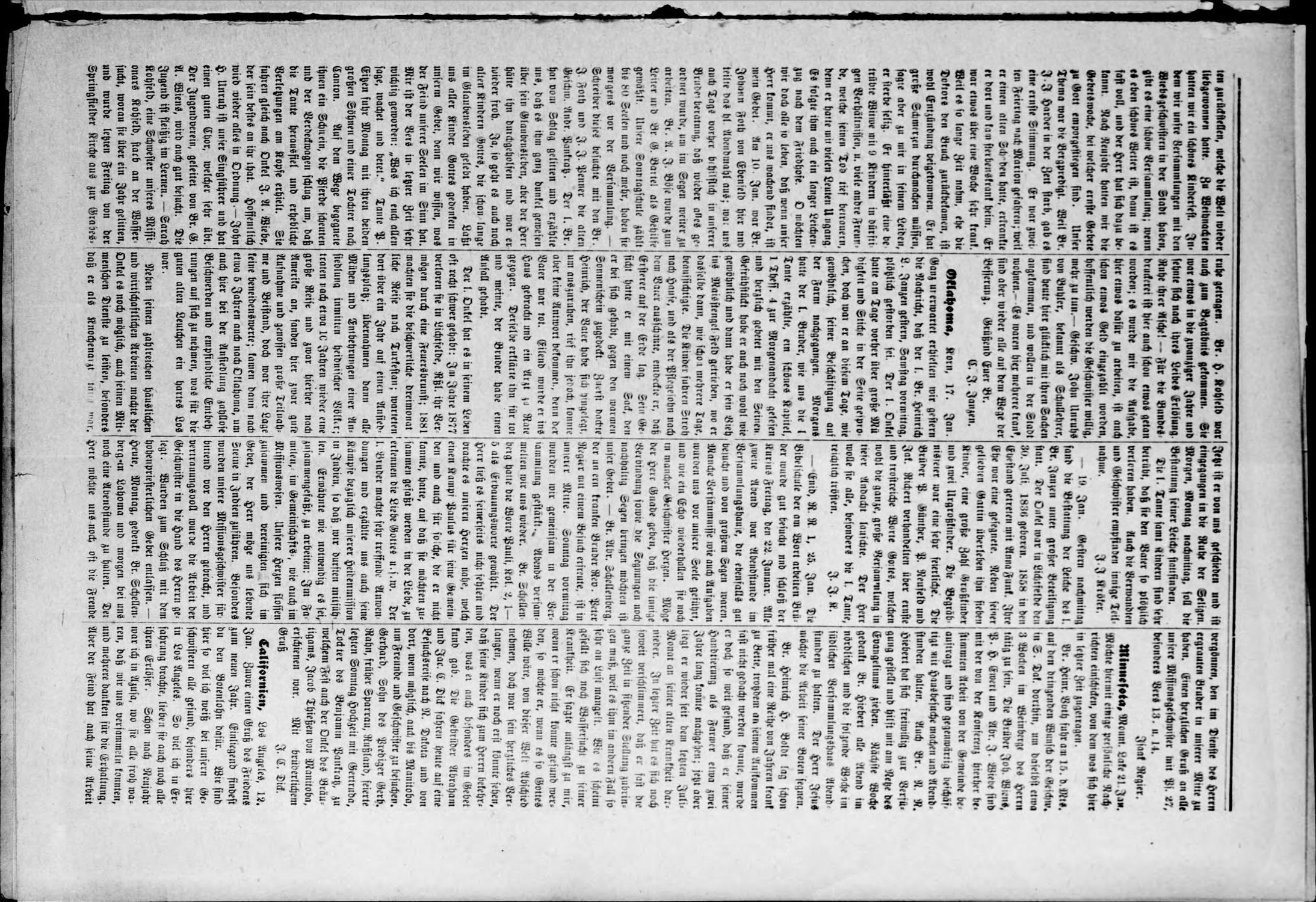 Zions--Bote. (Medford, Okla.), Vol. 20, No. 4, Ed. 1 Wednesday, January 27, 1904                                                                                                      [Sequence #]: 3 of 4