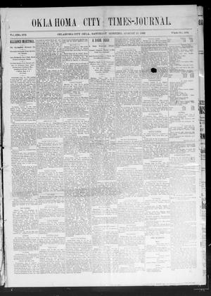 Primary view of Oklahoma City Times-Journal (Oklahoma City, Okla.), Vol. 2, No. 273, Ed. 1 Saturday, August 15, 1891