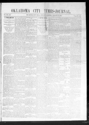 Primary view of Oklahoma City Times-Journal (Oklahoma City, Okla.), Vol. 2, No. 280, Ed. 1 Sunday, August 23, 1891