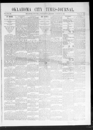 Primary view of object titled 'Oklahoma City Times-Journal (Oklahoma City, Okla.), Vol. 2, No. 282, Ed. 1 Tuesday, August 25, 1891'.