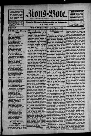 Primary view of object titled 'Zions--Bote. (Medford, Okla.), Vol. 19, No. 49, Ed. 1 Wednesday, December 16, 1903'.