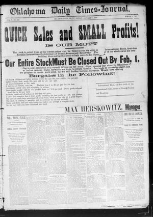 Primary view of Oklahoma Daily Times--Journal. (Oklahoma City, Okla.), Vol. 5, No. 203, Ed. 1 Friday, January 15, 1892