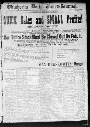 Primary view of Oklahoma Daily Times--Journal. (Oklahoma City, Okla.), Vol. 5, No. 215, Ed. 1 Friday, January 29, 1892