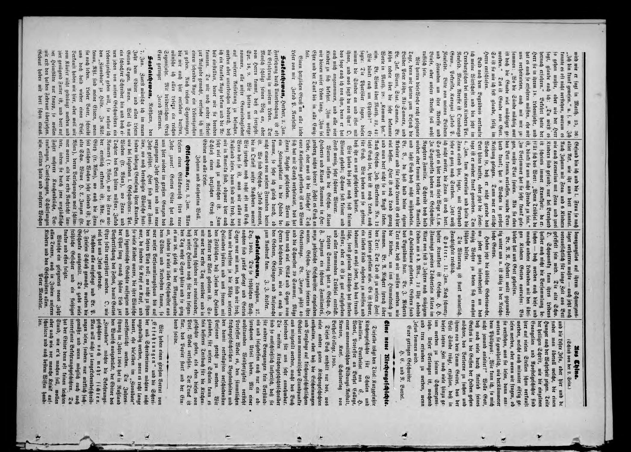 Zions--Bote. (Medford, Okla.), Vol. 22, No. 3, Ed. 1 Wednesday, January 17, 1906                                                                                                      [Sequence #]: 8 of 8