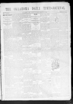 Primary view of object titled 'Oklahoma Daily Times--Journal. (Oklahoma City, Okla.), Vol. 5, No. 33, Ed. 1 Tuesday, March 8, 1892'.