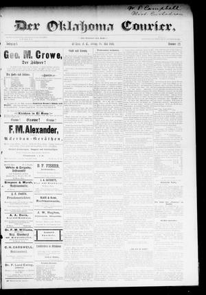 Primary view of object titled 'Der Oklahoma Courier. (El Reno, Okla. Terr.), Vol. 1, No. 22, Ed. 1 Friday, May 18, 1894'.