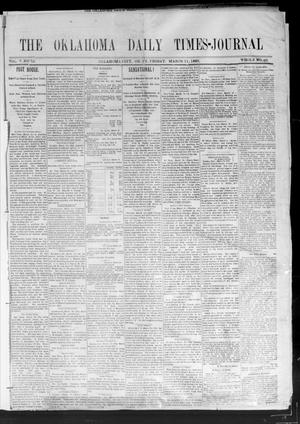 Primary view of object titled 'Oklahoma Daily Times--Journal. (Oklahoma City, Okla.), Vol. 5, No. 35, Ed. 1 Friday, March 11, 1892'.