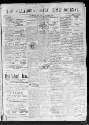 Primary view of Oklahoma Daily Times--Journal. (Oklahoma City, Okla.), Vol. 5, No. 37, Ed. 1 Sunday, March 13, 1892