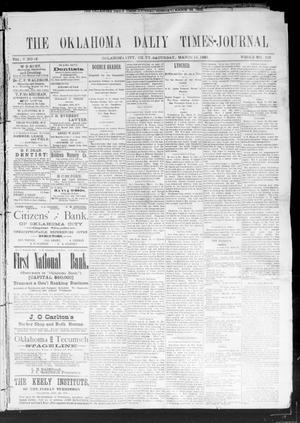 Primary view of Oklahoma Daily Times--Journal. (Oklahoma City, Okla.), Vol. 5, No. 42, Ed. 1 Saturday, March 19, 1892
