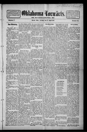 Primary view of Oklahoma Vorwärts. (Bessie, Okla.), Vol. 17, No. 49, Ed. 1 Friday, April 27, 1917