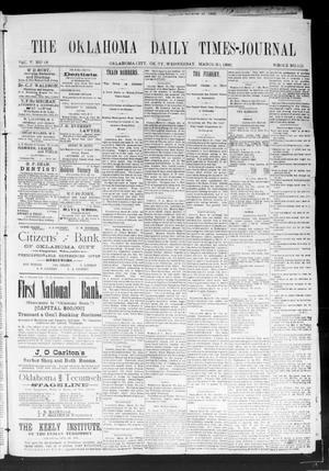 Primary view of Oklahoma Daily Times--Journal. (Oklahoma City, Okla.), Vol. 5, No. 50, Ed. 1 Wednesday, March 30, 1892