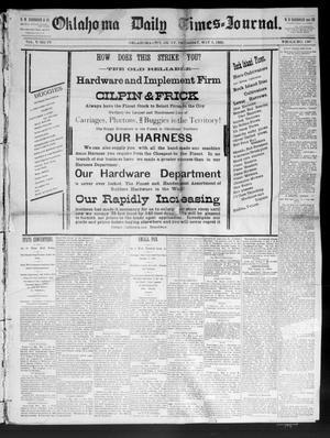 Primary view of Oklahoma Daily Times--Journal. (Oklahoma City, Okla.), Vol. 5, No. 77, Ed. 1 Thursday, May 5, 1892