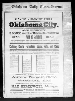 Primary view of Oklahoma Daily Times--Journal. (Oklahoma City, Okla.), Vol. 5, No. 25, Ed. 1 Saturday, July 9, 1892