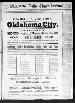 Primary view of Oklahoma Daily Times--Journal. (Oklahoma City, Okla.), Vol. 5, No. 39, Ed. 1 Wednesday, July 27, 1892