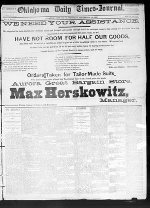 Primary view of Oklahoma Daily Times--Journal. (Oklahoma City, Okla.), Vol. 4, No. 73, Ed. 1 Thursday, September 15, 1892