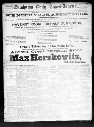 Primary view of Oklahoma Daily Times--Journal. (Oklahoma City, Okla.), Vol. 4, No. 87, Ed. 1 Saturday, October 1, 1892