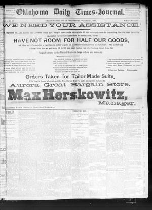 Primary view of Oklahoma Daily Times--Journal. (Oklahoma City, Okla.), Vol. 4, No. 90, Ed. 1 Wednesday, October 5, 1892