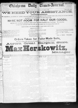 Primary view of Oklahoma Daily Times--Journal. (Oklahoma City, Okla.), Vol. 4, No. 92, Ed. 1 Friday, October 7, 1892