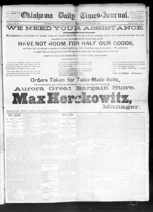 Primary view of Oklahoma Daily Times--Journal. (Oklahoma City, Okla.), Vol. 4, No. 96, Ed. 1 Wednesday, October 12, 1892