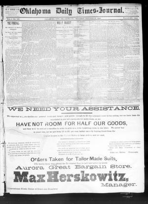 Primary view of Oklahoma Daily Times--Journal. (Oklahoma City, Okla.), Vol. 4, No. 108, Ed. 1 Thursday, October 27, 1892