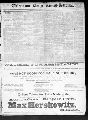 Primary view of Oklahoma Daily Times--Journal. (Oklahoma City, Okla.), Vol. 4, No. 118, Ed. 1 Tuesday, November 8, 1892