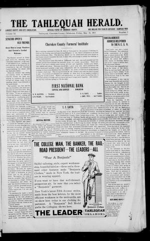 Primary view of object titled 'The Tahlequah Herald. (Tahlequah, Okla.), Vol. 10, No. 2, Ed. 1 Friday, May 24, 1912'.