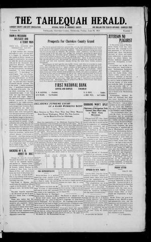 Primary view of object titled 'The Tahlequah Herald. (Tahlequah, Okla.), Vol. 10, No. 7, Ed. 1 Friday, June 28, 1912'.