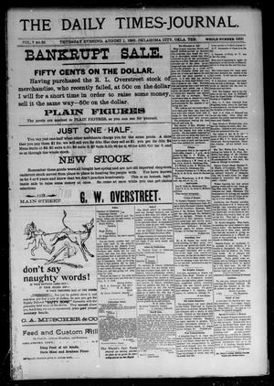 Primary view of The Daily Times-Journal. (Oklahoma City, Okla. Terr.), Vol. 7, No. 35, Ed. 1 Thursday, August 1, 1895