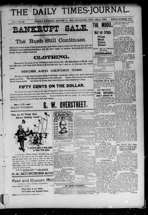 Primary view of The Daily Times-Journal. (Oklahoma City, Okla. Terr.), Vol. 7, No. 48, Ed. 1 Friday, August 16, 1895