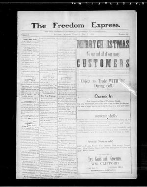 Primary view of object titled 'The Freedom Express. (Freedom, Okla.), Vol. 2, No. 38, Ed. 1 Thursday, January 2, 1908'.