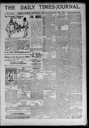 Primary view of The Daily Times-Journal. (Oklahoma City, Okla. Terr.), Vol. 7, No. 63, Ed. 1 Tuesday, September 3, 1895