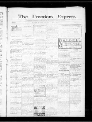 Primary view of object titled 'The Freedom Express. (Freedom, Okla.), Vol. 3, No. 48, Ed. 1 Thursday, March 11, 1909'.