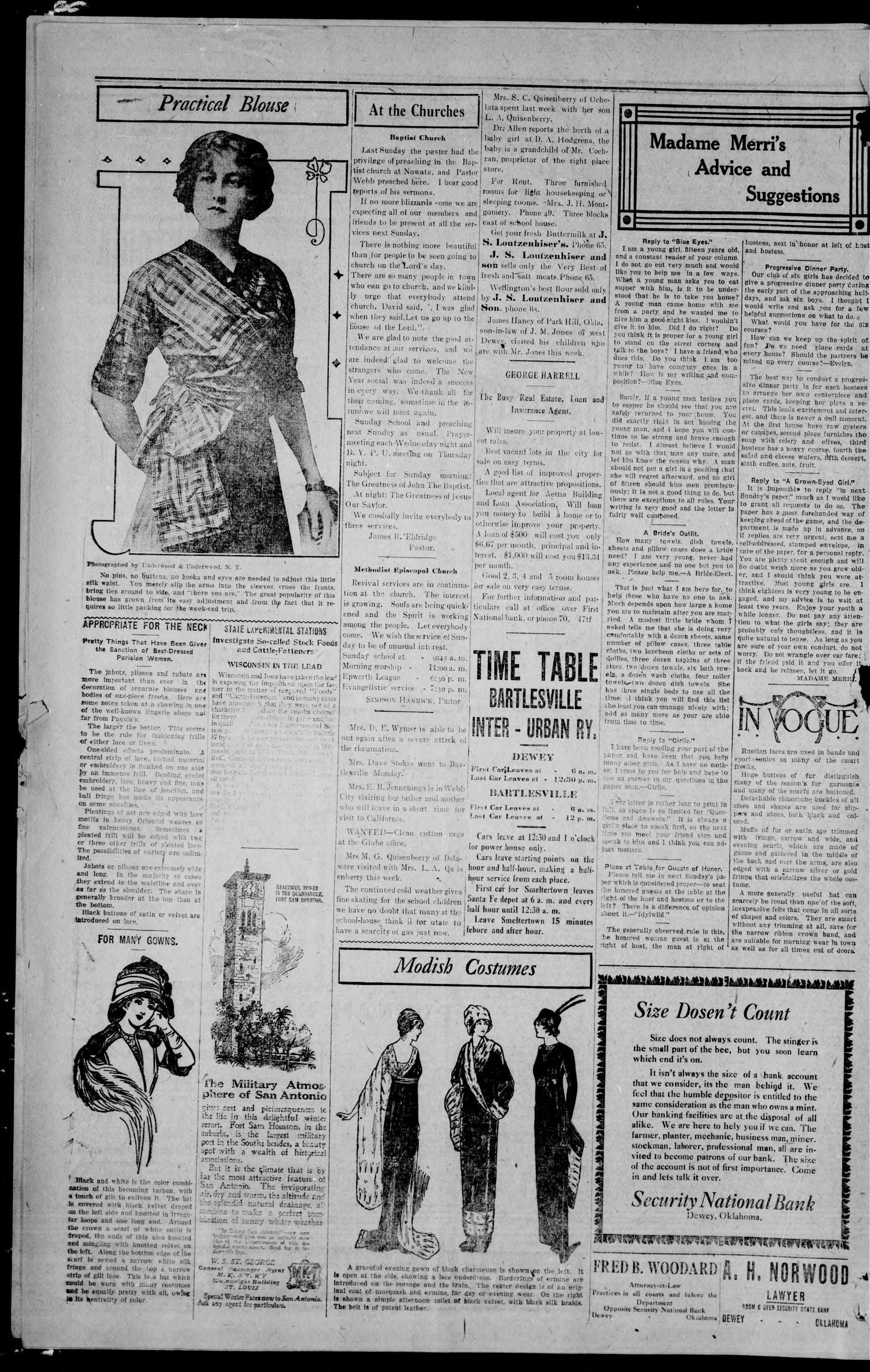 The Dewey Weekly Globe (Dewey, Okla.), Vol. 1, No. 7, Ed. 1 Friday, January 19, 1912                                                                                                      [Sequence #]: 4 of 12