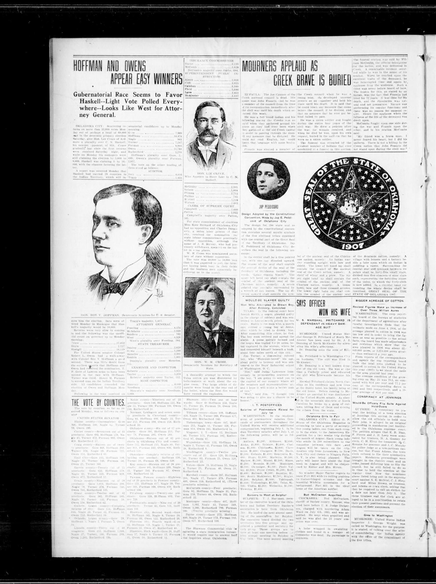 The Freedom Express. (Freedom, Okla.), Vol. 2, No. 10, Ed. 1 Thursday, June 20, 1907                                                                                                      [Sequence #]: 4 of 8