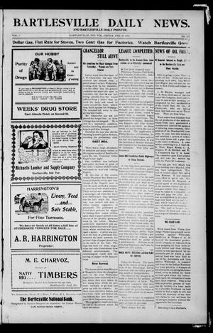 Primary view of object titled 'Bartlesville Daily News. And Bartlesville Daily Pointer. (Bartlesville, Indian Terr.), Vol. 1, No. 171, Ed. 1 Friday, February 23, 1906'.