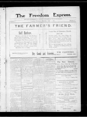 Primary view of object titled 'The Freedom Express. (Freedom, Okla.), Vol. 2, No. 12, Ed. 1 Thursday, July 4, 1907'.