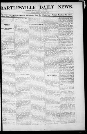 Primary view of object titled 'Bartlesville Daily News. And Bartlesville Daily Pointer. (Bartlesville, Indian Terr.), Vol. 1, No. 199, Ed. 1 Friday, March 30, 1906'.