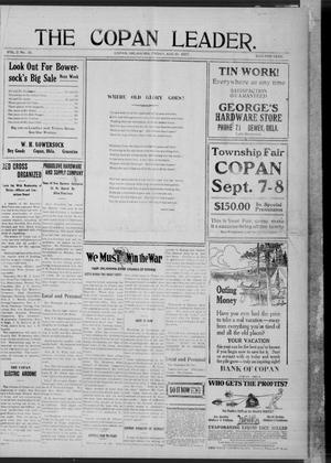 Primary view of object titled 'The Copan Leader. (Copan, Okla.), Vol. 2, No. 31, Ed. 1 Friday, August 10, 1917'.