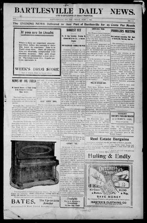 Primary view of object titled 'Bartlesville Daily News. And Bartlesville Daily Pointer. (Bartlesville, Indian Terr.), Vol. 1, No. 260, Ed. 1 Friday, June 1, 1906'.
