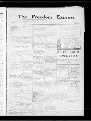 Primary view of object titled 'The Freedom Express. (Freedom, Okla.), Vol. 3, No. 50, Ed. 1 Thursday, March 25, 1909'.